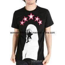 Baumwoll-Mode-Design benutzerdefinierte Siebdruck Mann T-Shirt Herstellung in China