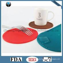 Wasserdichte Silikon-Untersetzer für Kaffeetasse-Matte Silikon-Schalen-Auflage