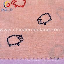 O algodão 100% imprimiu a tela tecida tingida fio para o vestuário da camisa (GLLML130)