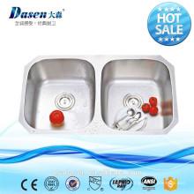 DS 50/50 bacia dupla estados unidos mercado venda quente de aço inoxidável 18 gauge pia da cozinha com embalagem individual