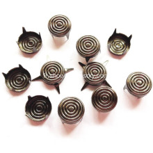 Gun Metal Bullseye Studs for Leather 9mm