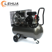 Belt driven portable tire gas air compressor