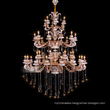 Lustres de egyptian crystal huge hotel classic used lighting fixtures big chandelier 88628