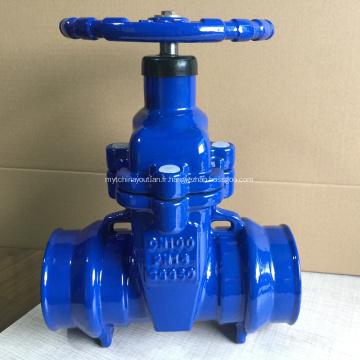 Soupape à vanne de siège résiliente à extrémité de prise de tuyau en PVC