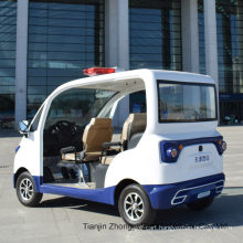 Hot Sale 2 4 Seater Electric Closed Style Street Laminated Glass Small Police Patrol Car with Ce SGS Certificate
