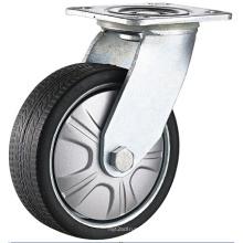Roulette à roulement à billes pivotante à roulement robuste PU Roulette