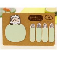 Regular Printed Memo Pad mit brauner Abdeckung, Werbe-Notizblock