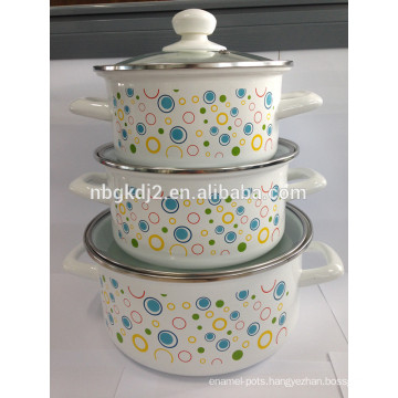Enamel new product for cooking carbon steel with enamel coating