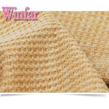 Polyester Coton Lycra Tissu tricoté gaufré Polyester