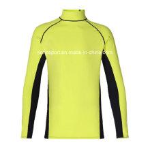 Resistencia a los rayos ultravioleta manga larga camisa de surf de guardia de erupción (SNRG03)