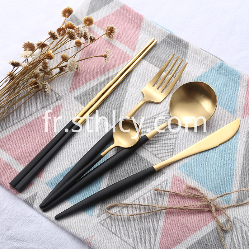 titanium-gold-forks-spoon-stainless-steel-cutlery