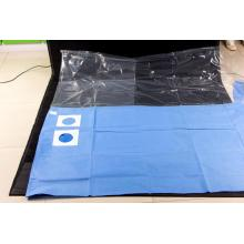 Disposable surgical drape with SM reinfored piece
