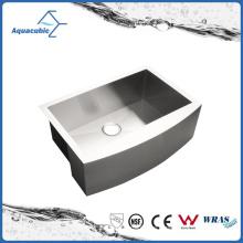 Caliente-vendiendo el solo-tazón de fuente hecho a mano hecho a mano fregadero de acero de la cocina (ACS3021)