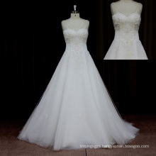 Romantic Chapel Train Wedding Dress Organza