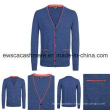Men Indie Pop Top Grade Pure Cashmere Knitwear