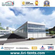 Dreidecker-Zelt / Doppeldecker-Zelt Zweistöckiges Zelt als Ausstellung