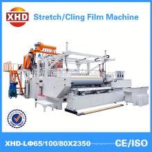 Machine de fabrication de films étirables en plastique au plancher
