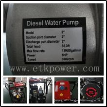 "2"" Electrical Start Diesel Water Pump with Large Fuel Tank"