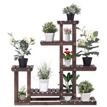 Wood Multi shelves Flower Rack Plant Stand