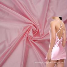 spandex 30 nylon 70 elastic soft smooth shiny satin fabric for women nightwear