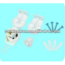 25mm D Tipo de plástico de abrazadera de rodillos de embrague, accesorios de cortina, componentes Mini ciego