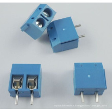 20 PCS Blue 5mm Pitch 2 Pin 2 Way PCB Screw Terminal Block Connector Kf301-2p