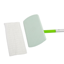 Detachable Easy Cleaning Mop 128CM Rectangle Flat Mop with 4 Section Aluminum Handles