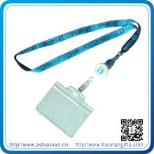 Lanière de polyester de support de badge de carte d'identité de haute qualité