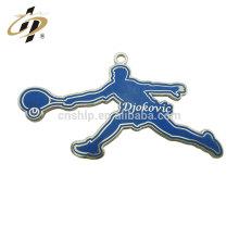 Breloques et pendentif en métal de tennis de sports adaptés aux besoins du client de tennis promotionnels