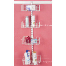 Wall Fixed Bathroom Storage Rack (LJ1026)
