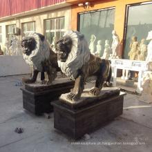 estátuas de leão grande decorativo ao ar livre para venda