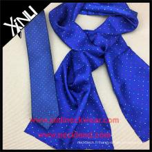 Ensemble de cravate personnalisée Skinny pour homme avec écharpe en soie pour femme