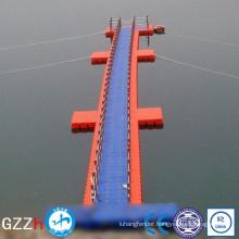puncture resistant deck floating work platform with deck