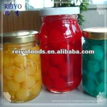 Frutas enlatadas (pêra, pêssego, cereja, maçã)