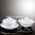CHAOZHOU Hotel&Restaurant white ceramic soup plates, Banquet soup plates, Durable plates wholesale