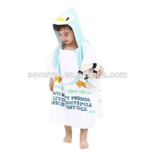 100%Cotton Animal Cartoon Style Print Hooded Bath Wrap Coat Travel Holiday Beach Swimming Pool Sauna Spa Poncho Bathing Towel