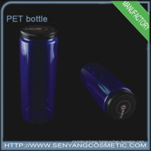 PET plastic cylindrical bottle Mineral water bottle with cap