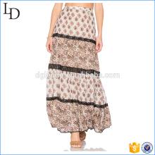 100% soie confortable dernière conception de jupe longue pour les femmes musulmanes