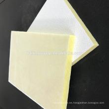 Teja acústica del techo de la fibra de vidrio de alta densidad a prueba de sonidos