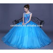 2017 organza ruffle vestidos de quinceanera westlichen Ballkleider blauen Cocktailkleider Designs
