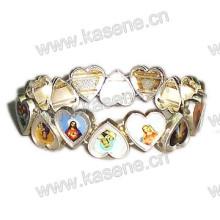 Herz-geformtes Legierungs-Rosenbeet-Armband, Heiliges Armband