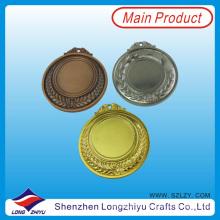 Medallas en blanco por encargo de 65 mm Haga su propia medalla de metal Medallón Medalla de plata dorada Medalla de bronce para la venta (lzy201300067 (3))