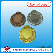 Custom Made 65mm Blank Medals Make Your Own Medal Metal Insert Blank Medallion Gold Silver Bronze Medal for Sale (lzy201300067 (3))