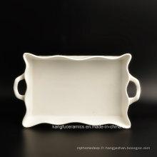 Assiette à dîner populaire en porcelaine design