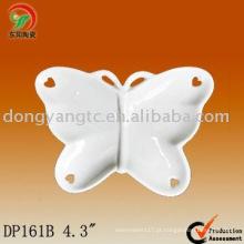 Placa de forma de borboleta cerâmica logotipo personalizado