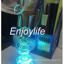 Huevo fabuloso fumar pipa de agua de vidrio con los colores de la luz LED