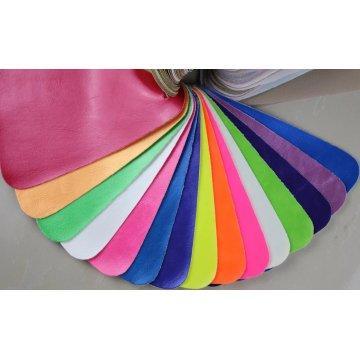 Cuero artificial repujado respetuoso del medio ambiente del PVC para el sofá (868 #)