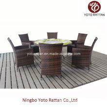 Outdoor Runder Tisch mit 6 Stühlen (1208)