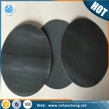 20 40 60 80 mesh 255mm diameter black wire cloth packs plastic extruder filter screen pack