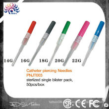 stainless steel EO gas sterilized catheter body piercing needles/cannula piercing needle